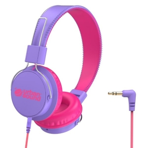 Verbatim Urban Sound Lightweight Child Friendly Over Ear 3.5mm Wired Headset - Purple/Pink