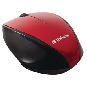 Verbatim Wireless Multi-Trac Blue LED USB 2.0 Optical Mouse - Red