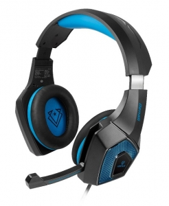 Vertux Denali High Fidelity Surround Sound Over Ear Wired Gaming Headset - Blue