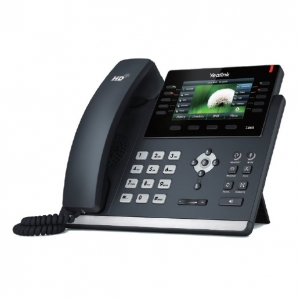 Yealink SIP-T46S Ultra Elegant Dual Port PoE Gigabit VOIP Phone with 4.3 Inch Screen