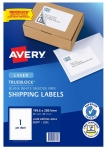 Avery L7167 White Laser 199.6 x 289.1mm Permanent Shipping Labels with Trueblock - 20 Pack