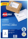 Avery L7168 White Laser Permanent 199.6 x 143.5mm Shipping Labels with Trueblock - 200 Pack