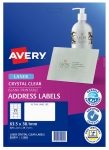Avery L7560 Crystal Clear Laser 63.5 x 38.1mm Permanent Shipping Labels - 525 Pack