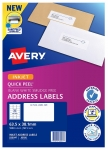 Avery J8160 White Inkjet 63.5 x 38.1mm Permanent Quick Peel Address Labels with Sure Feed - 1050 Pack