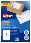Avery J8169 White Inkjet 99.1 x 139mm Permanent Shipping Labels with Trueblock - 200 Pack