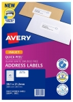 Avery J8651 White Inkjet 38.1 x 21.2mm Permanent Quick Peel Address Labels with Sure Feed - 3250 Pack
