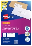 Avery J8159 White Inkjet 64 x 33.8mm Permanent Quick Peel Address Labels with Sure Feed – 600 Pack