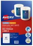 Avery L7651REV White Laser Inkjet 38.1 x 21.2mm Removable Multi-purpose Labels - 1625 Pack