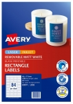 Avery L7656 White Laser Inkjet 46 x 11.11mm Removable Multi-Purpose Labels – 2100 Pack