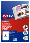 Avery L7768 Glossy White Laser 199.6 x 143.5mm Permanent Photo Quality Multi-Purpose Labels – 50 Pack