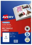 Avery L7769 Glossy White Laser 99.1 x 139mm Permanent Photo Quality Multi-Purpose Labels – 100 Pack