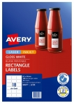Avery L7109 Glossy White Laser Inkjet 62 x 42mm Permanent Product Labels - 180 Pack