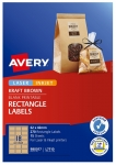 Avery L7110 Kraft Brown Laser Inkjet 62 x 42mm Permanent Product Labels - 270 Pack