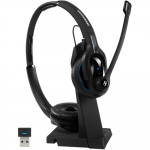 Sennheiser MB Pro 2 UC MS Bluetooth Overhead Wireless Mono Headset with Charging Stand - Black - Optimised for Microsoft Business Applications