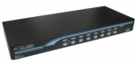 Rextron 1-8 USB/PS2 Hybrid KVM Switch with USB Console Ports - Includes 8x 1.8M USB 2 in 1 Cables