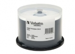 Verbatim DataLifePlus CD-R 52X 700MB White Inkjet Printable CD Discs - 50 Pack