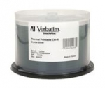 Verbatim DataLifePlus CD-R 52X 700MB Crystal Thermal Printable CD Discs - 50 Pack