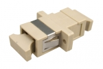 Dynamix Fibre SC to SC Simplex Multi-mode Joiner - Beige