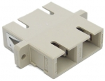 Dynamix Fibre SC to SC Duplex Multi-mode Joiner - Beige