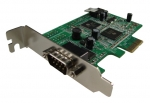 PCI Express Single Serial Port Supplied with Low Profile & Standard Height Brackets