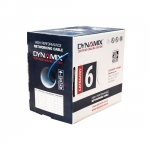 Dynamix 305m Blue Cat6 UTP Solid Cable Roll - Supplied in Reelex Box