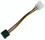 Dynamix 17cm LP4 Molex to Serial ATA Power Cable