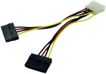 Dynamix LP4 Molex to 2x Serial ATA Power Cable