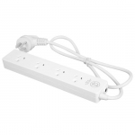 Dynamix 4 Outlet Powerboard with 2 Double Spaced Ports