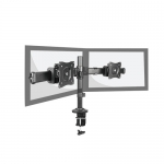 Brateck Micro Adjustment Articulating Dual Monitor Desk Mount Bracket for 13-27 Inch Flat Panel TVs or Monitors - Up to 8kg per arm