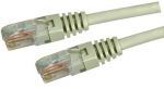 Dynamix 0.3M Beige Cat 5 Enhanced UTP Patch Lead (T568A Specification) 350MHz Slimline Molding & Latch Down Plug