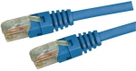 Dyanmix 0.75M Blue Cat 5 Enhanced UTP Patch Lead (T568A Specification) 350MHz Slimline Molding & Latch Down Plug