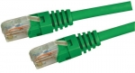 Dynamix 1M Green Cat 5 Enhanced UTP Patch Lead (T568A Specification) 350MHz Slimline Molding & Latch Down Plug