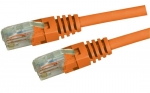 Dynamix 0.5M Orange Cat 5 Enhanced UTP Patch Lead (T568A Specification) 350MHz Slimline Molding & Latch Down Plug