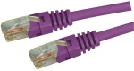 Dynamix 0.75M Purple Cat5 Enhanced UTP Patch Lead (T568A Specification) Slimline Molding & Latch Down Plug 350MHz