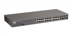 SMC 24 Port 10/100 Managed L2 Switch with 4 Gigabit Combo RJ45 / Mini GBIC SFP socket ports. Supports IP Clustering