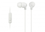 Sony MDR-EX15APW In Ear Headphone with Smart Phone Control - White