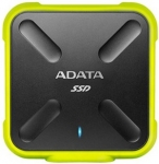 ADATA SD700 Durable USB3.1 512GB External Solid State Drive - Black/Yellow