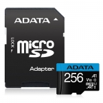 ADATA 256GB Premier microSDXC UHS-I Class 10 A1 V10 Card with Adapter
