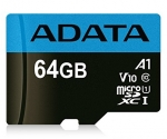 ADATA 64GB Premier microSDXC UHS-I Class 10 A1 V10 Card with Adapter