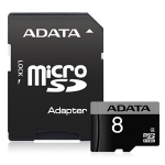 ADATA 8GB Class 4 microSDHC Card with Adapter
