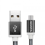 ADATA 1M Micro USB-B to USB Type A Braided Cable - Black