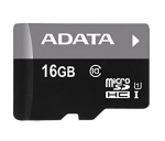 ADATA 16GB Premier microSDHC UHS-I Class 10 Card with Adapter