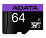 ADATA 64GB Premier microSDXC UHS-I Class 10 Card with Adapter