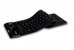 Adesso  SlimTouch 232 Antimicrobial Waterproof Flexible USB Wired Keyboard - Black