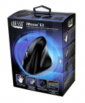 Adesso iMouse E3 Vertical Ergonomic USB Wired Programmable Gaming Mouse with Adjustable Weights - Black