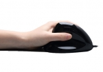 Adesso iMouse E7 Left-Handed Vertical Ergonomic Programmable USB Wired Gaming Mouse with Adjustable Weights - Black
