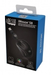 Adesso iMouse S8B USB Wired Mini Mouse with Retractable Cable