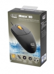 Adesso iMouse W3 Waterproof Antimicrobial USB Wired Mouse with Magnetic Scroll Wheel - Black