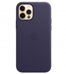 Apple iPhone 12 / iPhone 12 Pro Leather Case with MagSafe - Deep Violet