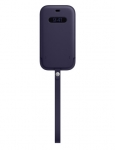 Apple iPhone 12 / iPhone 12 Pro Leather Sleeve with MagSafe - Deep Violet